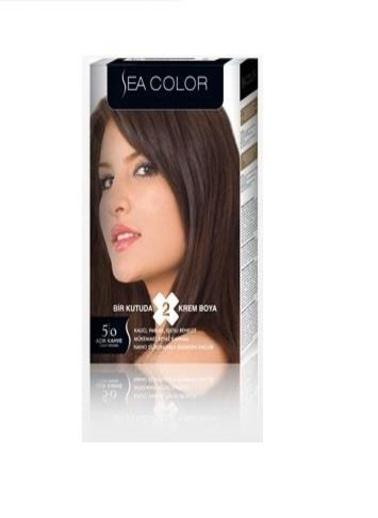 Sea Sea Color 2 Li Saç Boyası 5-0 Kahve